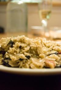 risotto de hongosraw